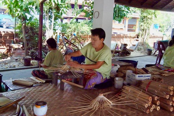 Chiang Mai fabrica de umbrele hartie 1