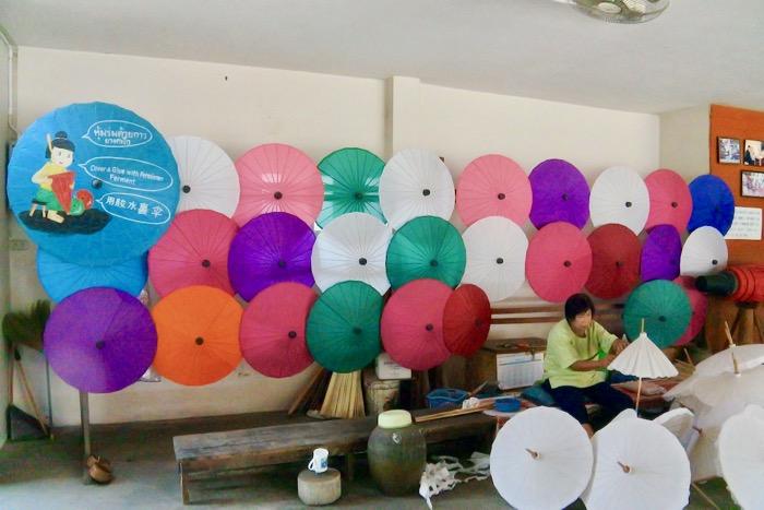 Chiang Mai fabrica de umbrele hartie