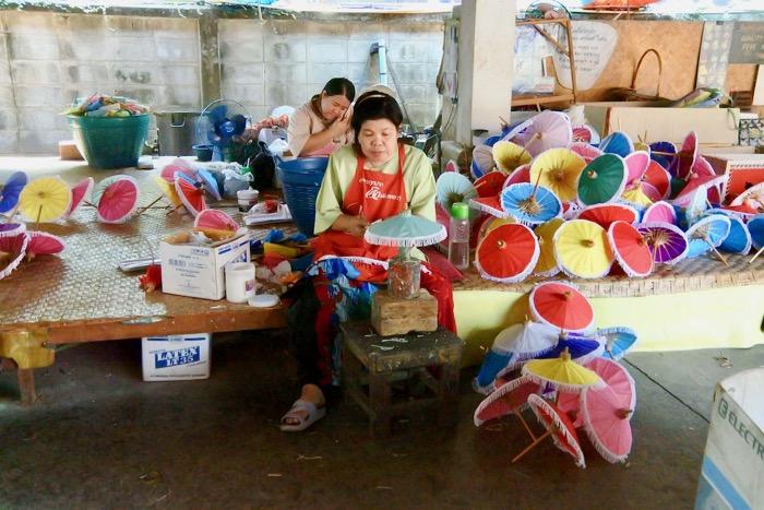 Chiang Mai fabrica de umbrele hartie 3