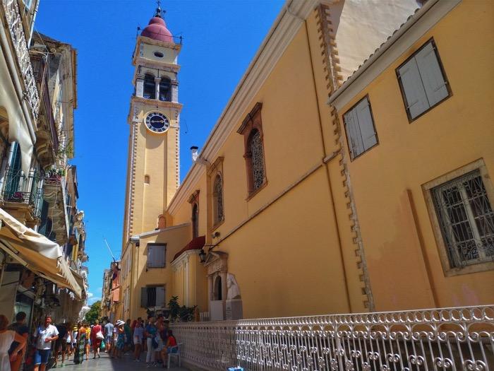 Corfu insula Sfântului Spiridon Biserica 3