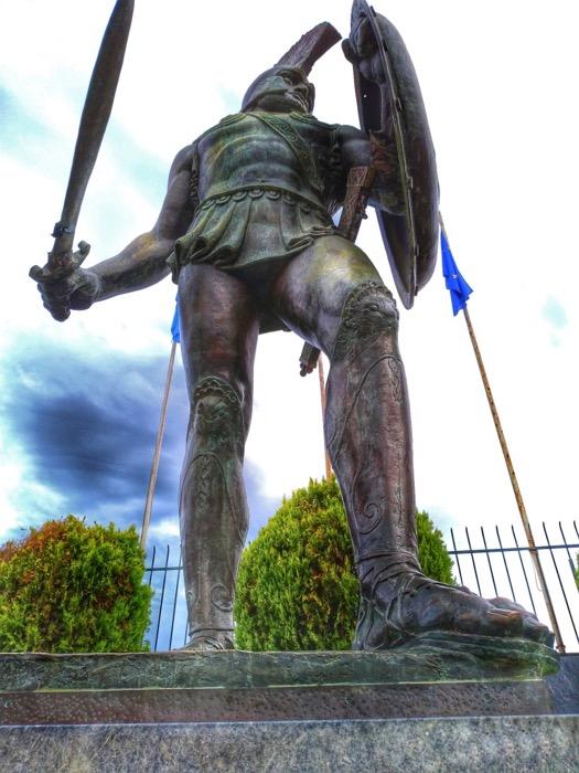 TOP obiective turistice din Peloponez Sparta Leonidas