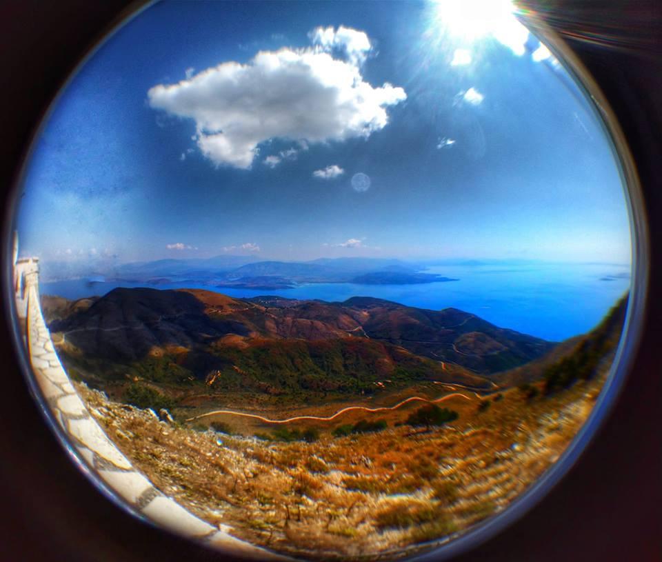 Pantokrator insula Corfu vedere Albania
