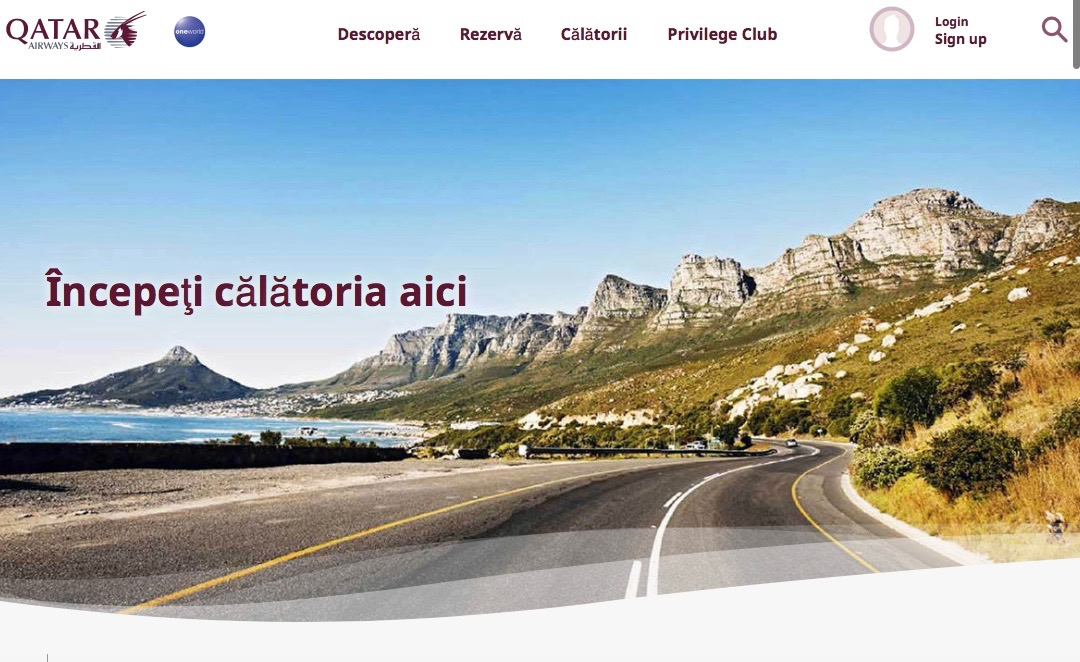 Qatar Airways a lansat site-ul web în limba română 43