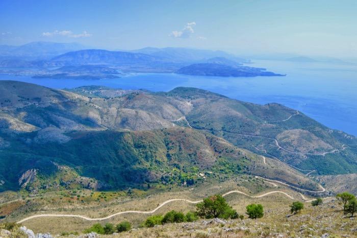 Muntele Pantokrator Corfu