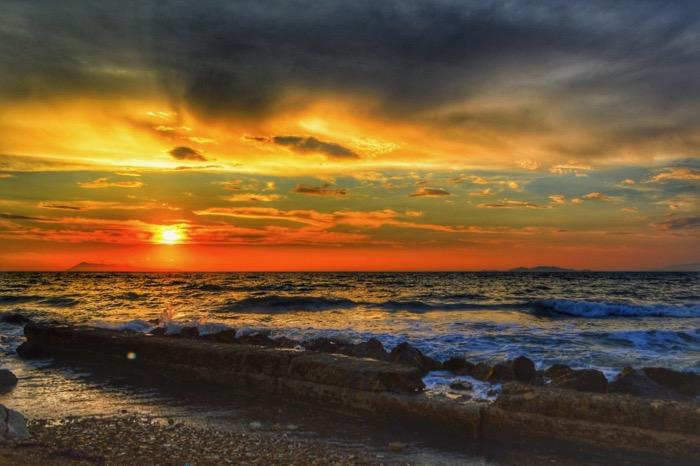 Plaja Loggas cel mai frumos apus din insula Corfu 8