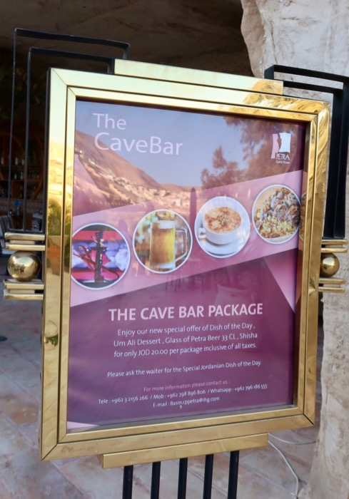 Meniu The Cave Bar Petra