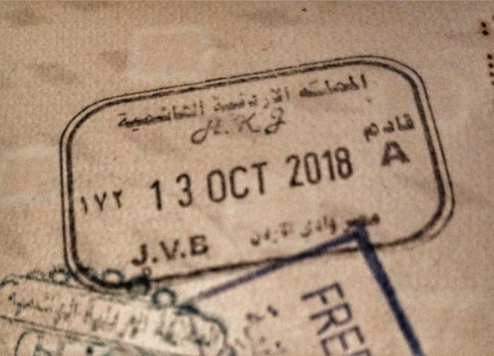 viza israel iordania