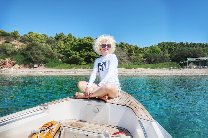Skiathos barca inchiriata excursie 16
