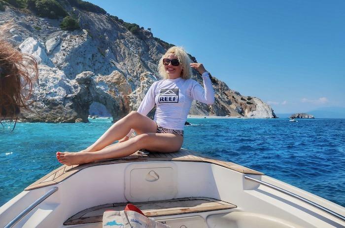 Skiathos barca inchiriata excursie