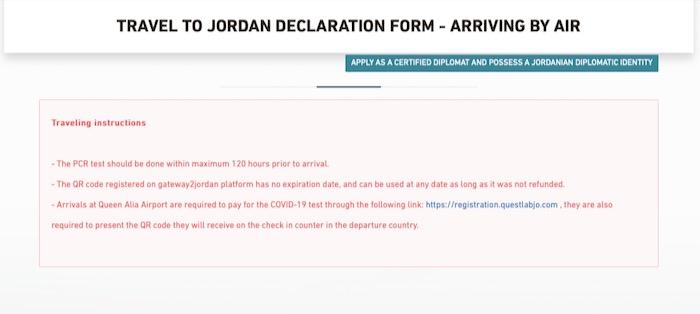 Formalitati Iordania