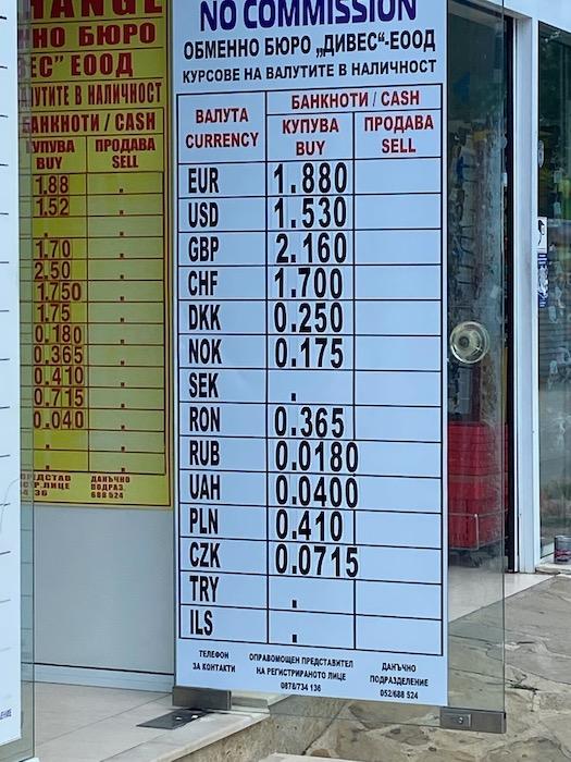 schimb valutar bulgaria